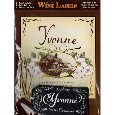 Mulberry Studios Personalised Wine Label Yvonne