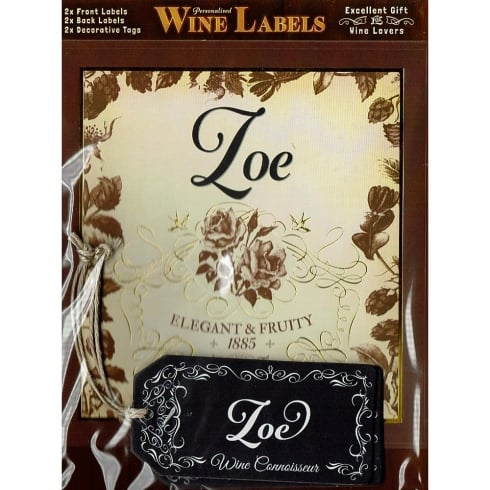 Mulberry Studios Personalised Wine Label Zoe