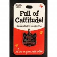 Pet Cat Identity Tag - Cattitude