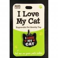 Pet Cat Identity Tag - I Love My Cat