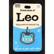 Pet Cat Identity Tag - Leo