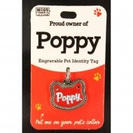 Pet Cat Identity Tag - Poppy