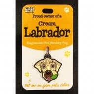 Pet Identity Tag - Cream Labrador