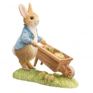 Peter Pushing Wheelbarrow Figurine