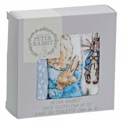 Peter Rabbit Face Cloths Pack Of 3