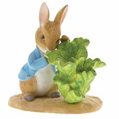 Peter Rabbit With Lettuce Figurine