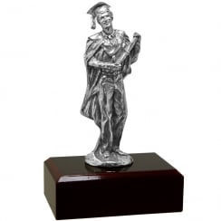 Pewter Male Graduation Figurine 14.5cm