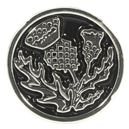 A E Williams Pewter Thistle Cufflinks