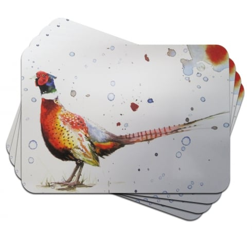 Pheasant Placemats Set of 4 The Leonardo Collection