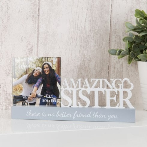 Widdop Bingham Photo Frame 4 X 4 - Amazing Sister