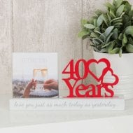 Photo Frame 4x4 -40 Years