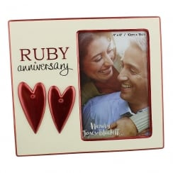 Photo Frame Ruby Anniversary