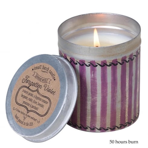 Himalayan Picnic Tin with Forgotten Violet Fragrance Candle