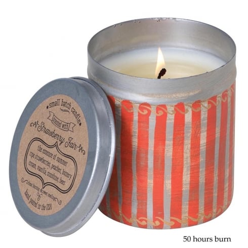 Himalayan Picnic Tin with Strawberry Fair Fragrance Candle