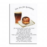 Pie and A Pint Scottish Birthday Card