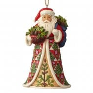 Pinecone Santa Hanging Ornament