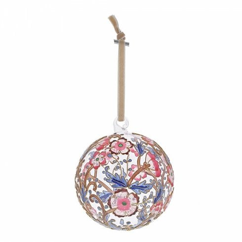 Enesco Pink & Blue Floral Hanging Ornament