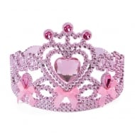 Pink Tiara with Ribbon Bow Ties