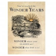 Pinot Grigio Wonder Years Birthday Card