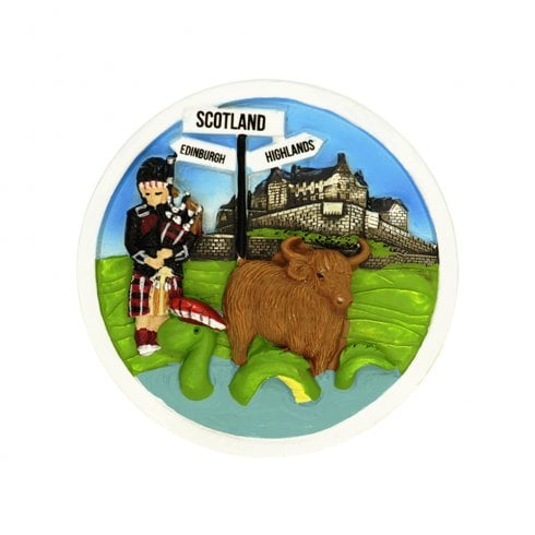 EastWest Piper and Highland Cow Magnet