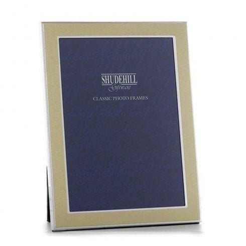 Shudehill Giftware Plain Gold Silver Frame 6x8 34168