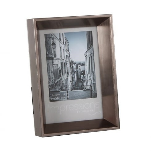 Impressions By Juliana Plastic Pewter 4 x 6 Photo Frame