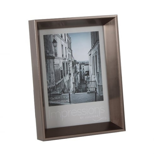 Impressions By Juliana Plastic Pewter 5 x 7 Photo Frame