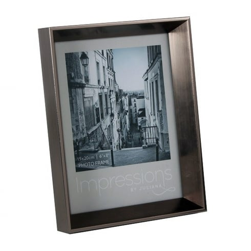 Impressions By Juliana Plastic Pewter 6 x 8 Photo Frame