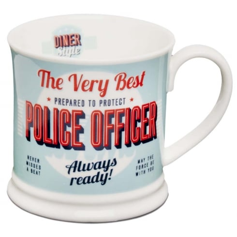 Diner Style Mugs Police Officer