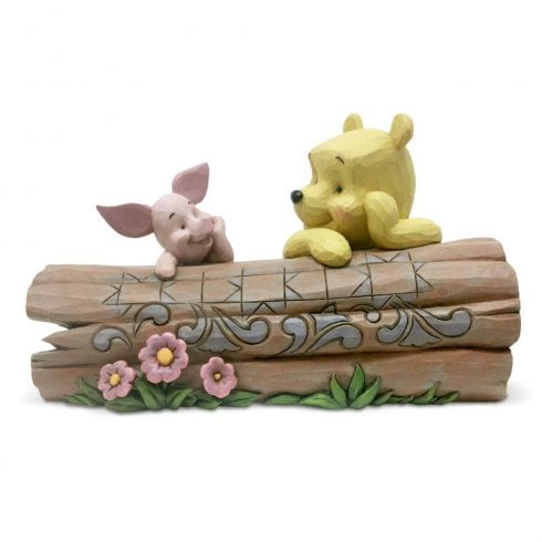 Disney Traditions Pooh and Piglet on a Log