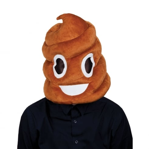 Wicked Costumes Poop Head Plush Mask