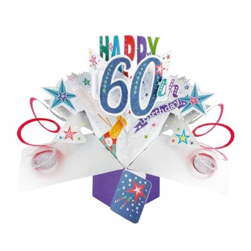Mothers Day 3D Pop Up Card 60th Birthday Awesome Greeting Cards Keepsake Gift