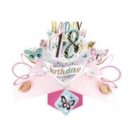 Pop Up Butterflies 3D 18th Birthday Card POP186