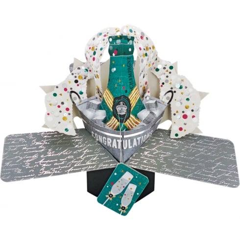 Second Nature Pop Up Champagne 3D Congratulations Card POP146