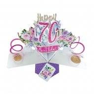 Pop Up Flowers 3D 70th Birthday Card POP195