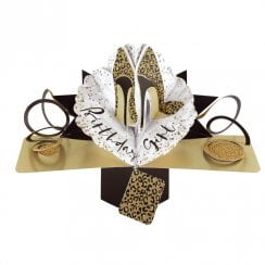 Pop Up Leopard Shoes 3D Birthday Card POP177