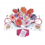 Pop Up Mixed Flowers 3D Birthday Card POP179