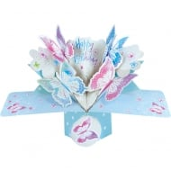 Pop Up Pastel Butterflies 3D Happy Birthday Card POP130