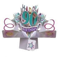 Pop Up Stars 3D 90th Birthday Card POP166