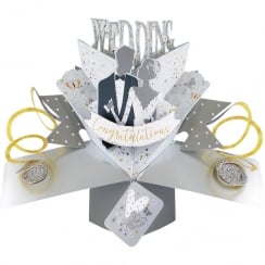 Pop Up Wedding Day 3D Congratulations Card POP163
