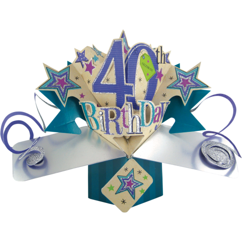 Second Nature Pop Ups Card 40th Birthday