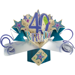 Pop Ups Card 40th Birthday