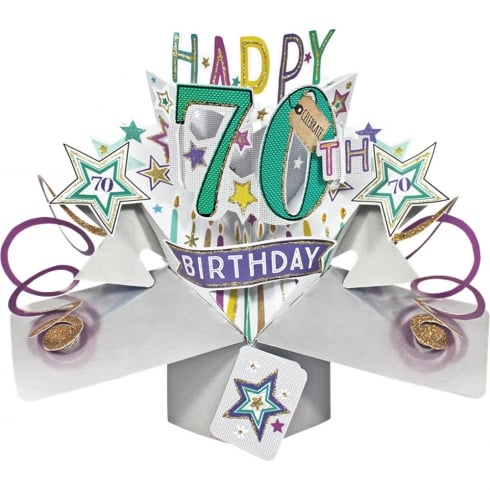 Second Nature Pop Ups Card 70th Birthday