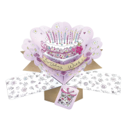 Pop Ups Card Birthday Wish! Cake