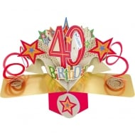 Pop Ups Card Celebrate 40th Birthday