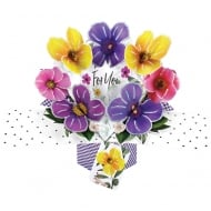Pop Ups Card For You Pansies Flowers