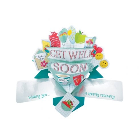 Second Nature Pop Ups Card Get Well Soon