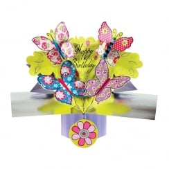 Pop Ups Card Happy Birthday Butterflies