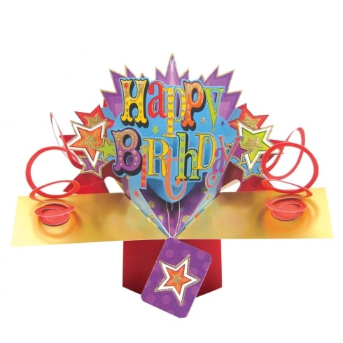 Second Nature Pop Ups Card Happy Birthday