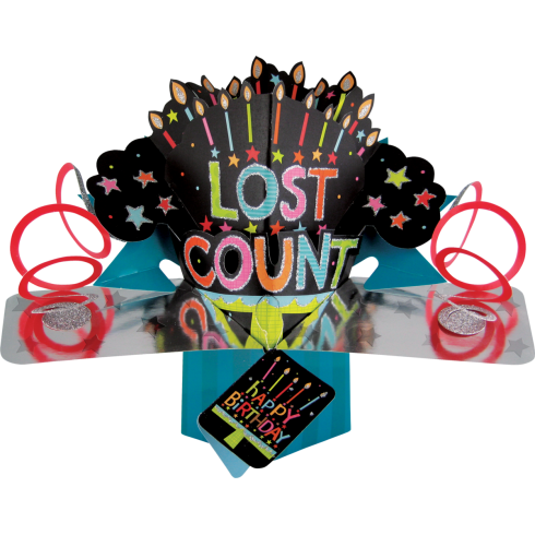 Second Nature Pop Ups Card Lost Count Happy Birthday